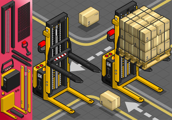 Isometric Forklift in Two Positions
