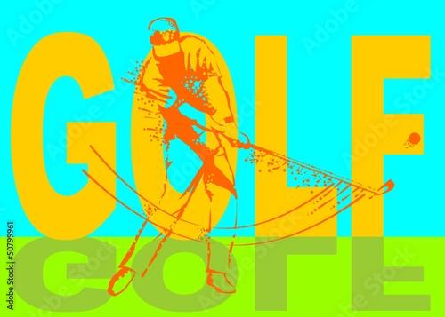Golfer man poster