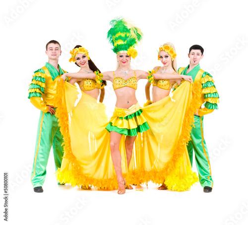 Sexy carnival dancers posing