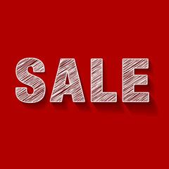 Sale Rot Kreide Scribble