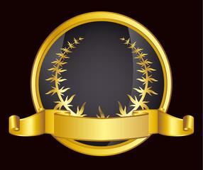 gold laurel wreath. eps10 vector illustration