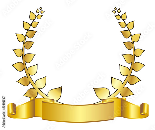gold laurel wreath. eps10 vector illustration