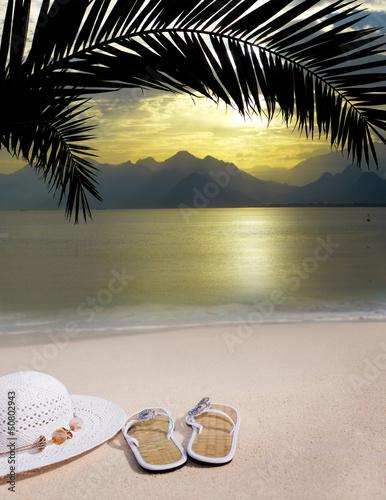 Fototapeten,tropisch,sonnenuntergänge,sandalen,strand
