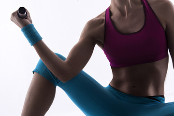 gymnast doing weights