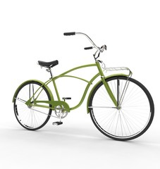 Green Bicycle Side View