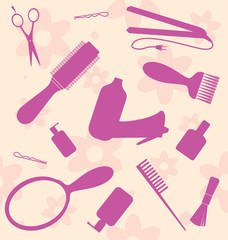 hair-dresser's tools set