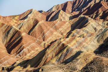 Colorful mountain in Danxia landform in Zhangye, Gansu of China