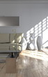 Wohndesign - Sofa vor weisser Wand
