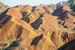 Colorful mountain with Danxia landform in Zhangye, China
