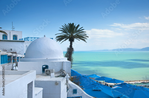 In de dag Tunesië Tunis, Tunisia