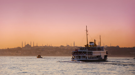 Beautiful evening sky of Istanbul