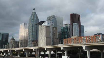 Toronto financial district.  Closeup.