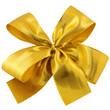 noeud doré emballage cadeau