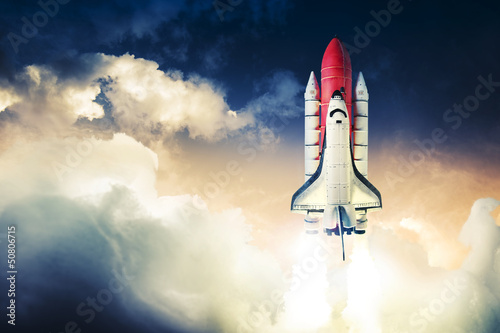Leinwanddruck Bild Space shuttle