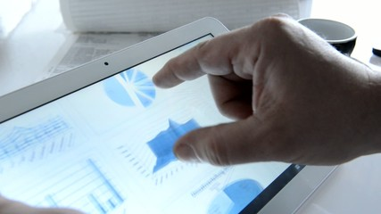 Analyse mit Diagrammen auf Tablet PC