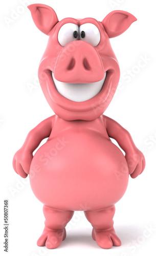 Deurstickers Boerderij Fun pig