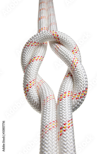 Two ropes bond in reef-knot