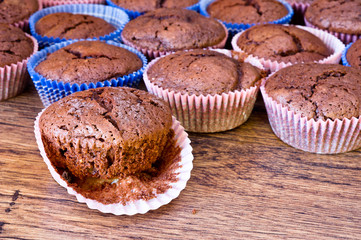 chocolat muffins with chocolat drops