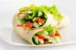 Tortilla chicken wraps