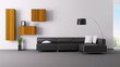 Interior of living room animation