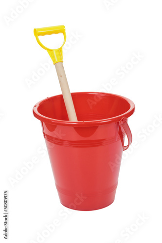 Toy bucket and spade.