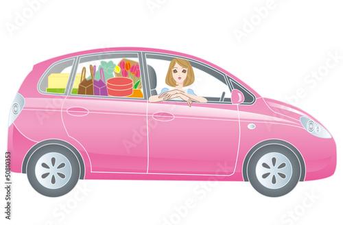自動車と女性ドライバー