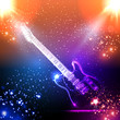 Music background, light guitar