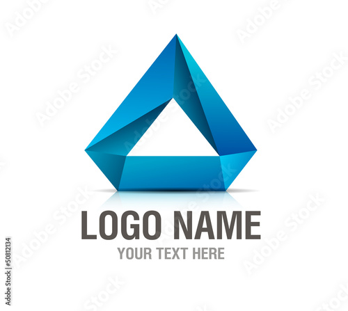 Logo abstract element blue isolated on white
