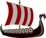 viking ship  stencil
