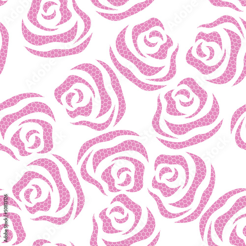 Lace floral seamless pattern