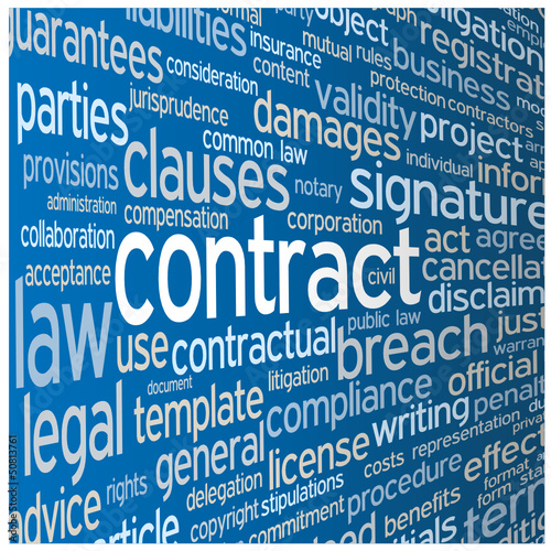 """CONTRACT"" Tag Cloud (agreement terms and conditions signature)"