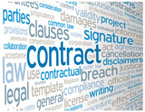 CONTRACT Tag Cloud (agreement terms and conditions signature)