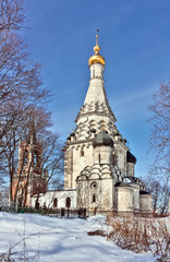 Church of the Transfiguration in Ostrov village,Moscow region, R