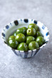 Castelvetrano Olives in a small bowl
