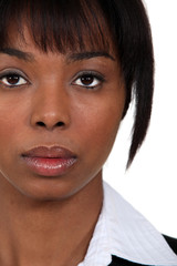 Head-shot of African businesswoman