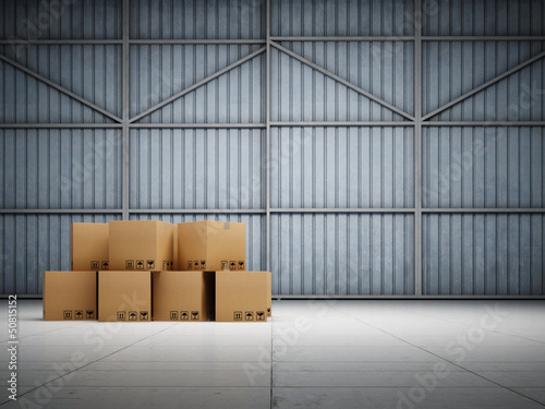 Large trucking warehouse