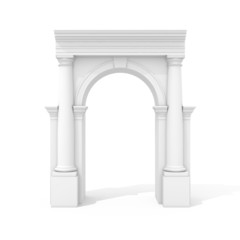 Arch with columns