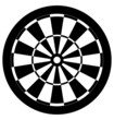 Dartboard black and white vector - 50815587