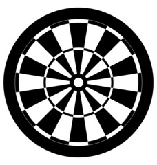 Dartboard black and white vector