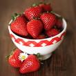 frische Erdbeeren in einer Schale