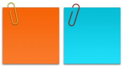 Papeis coloridos - laranja e azul