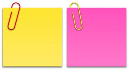 Papeis coloridos - amarelo e rosa