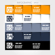 square infographic five options number squares