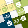 square infographic four options T shape