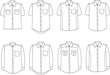 Vector illustration of men's business shirts