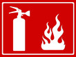 fire extinguisher symbol board vector illustration