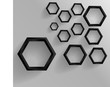 Vector abstract background Hexagon. Web Design