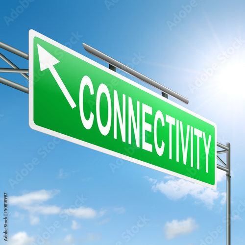 Connectivity concept.