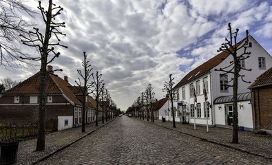Main street in Danish village, Møgeltønder