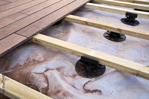 Exceptionnel Construction Du0027une Terrasse En Bois (bambou)